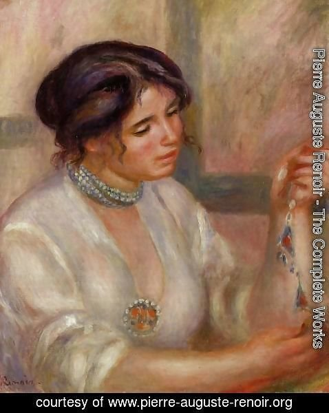 Pierre Auguste Renoir - Woman With A Necklace