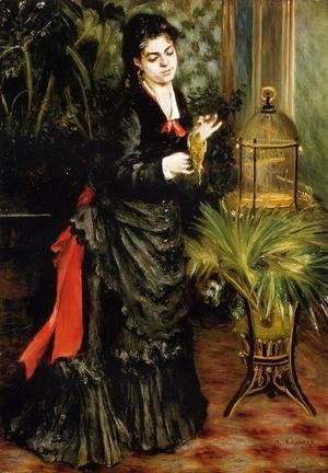 Woman With A Parrot Aka Henriette Darras