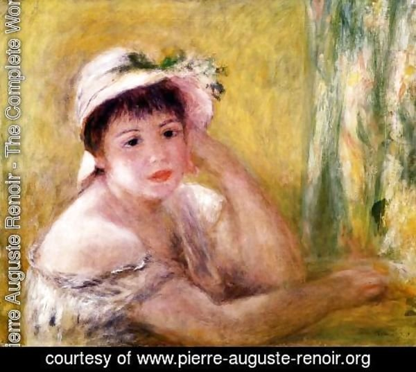 Pierre Auguste Renoir - Woman With A Straw Hat