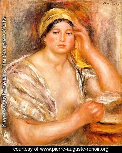 Pierre Auguste Renoir - Woman With A Yellow Turban