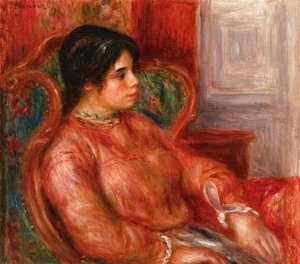 Pierre Auguste Renoir - Woman With Green Chair