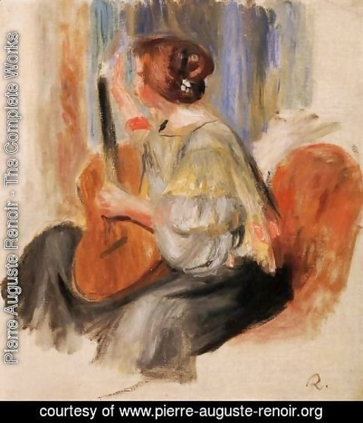 Pierre Auguste Renoir - Woman With Guitar