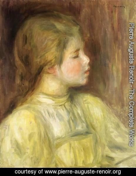 Pierre Auguste Renoir - Womans Head  The Thinker