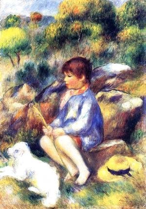 Pierre Auguste Renoir - Young Boy At The Stream