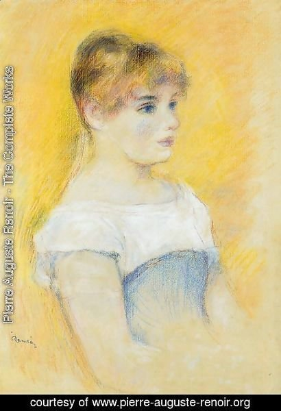 Pierre Auguste Renoir - Young Girl In A Blue Corset