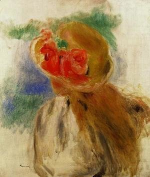 Pierre Auguste Renoir - Young Girl In A Flowered Hat