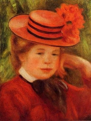 Pierre Auguste Renoir - Young Girl In A Red Hat
