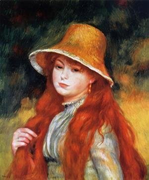 Pierre Auguste Renoir - Young Girl In A Straw Hat