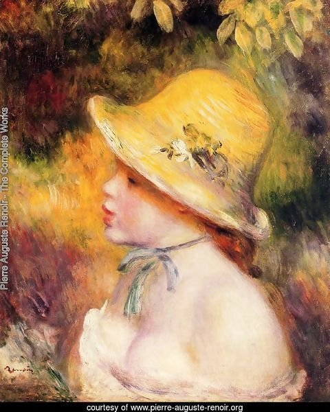 Young Girl In A Straw Hat2