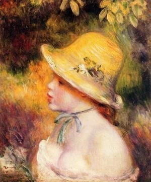 Pierre Auguste Renoir - Young Girl In A Straw Hat2