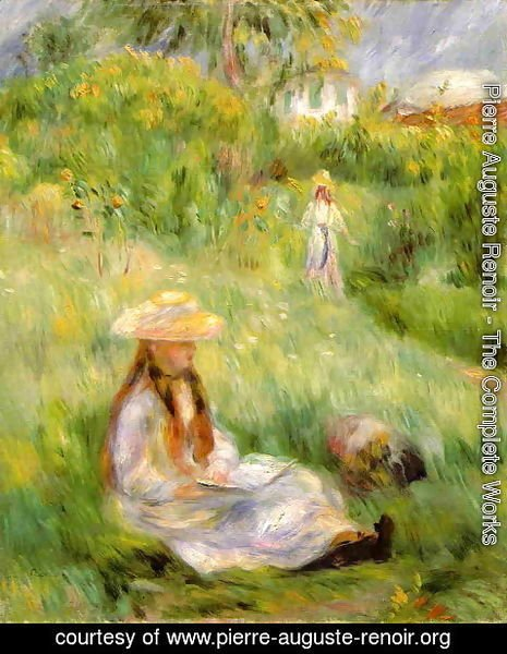 Pierre Auguste Renoir - Young Girl In The Garden At Mezy