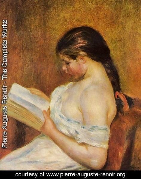 Pierre Auguste Renoir - Young Girl Reading