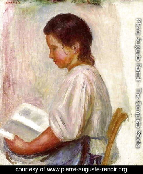 Pierre Auguste Renoir - Young Girl Reading3