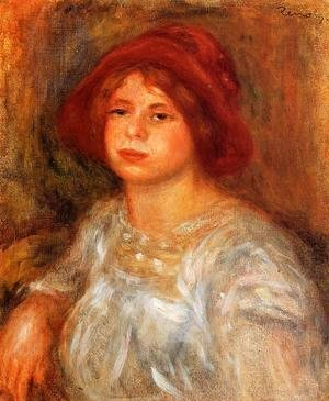 Pierre Auguste Renoir - Young Girl Wearing A Red Hat