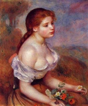 Pierre Auguste Renoir - Young Girl With Daisies