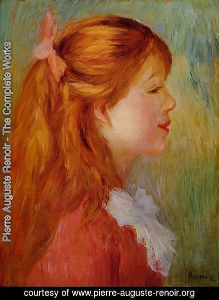 Pierre Auguste Renoir - Young Girl With Long Hair In Profile