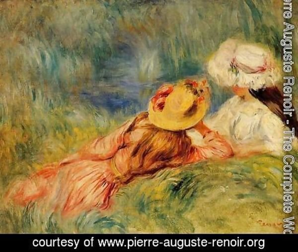 Pierre Auguste Renoir - Young Girls By The Water