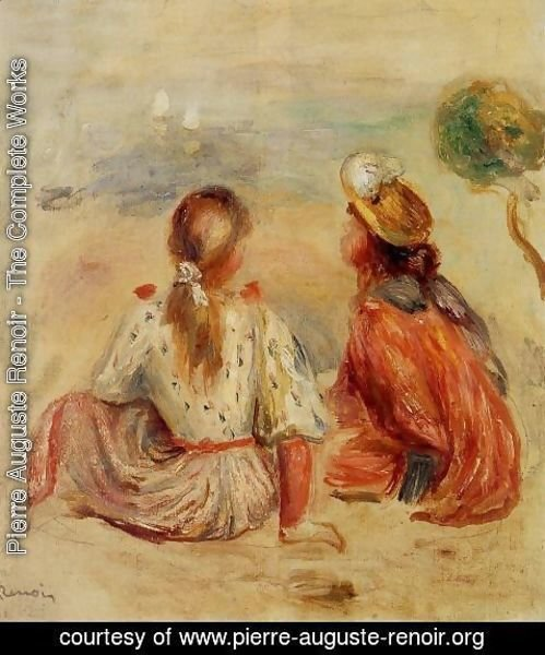 Pierre Auguste Renoir - Young Girls On The Beach