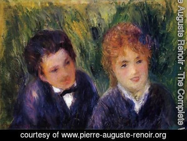 Pierre Auguste Renoir - Young Man And Young Woman