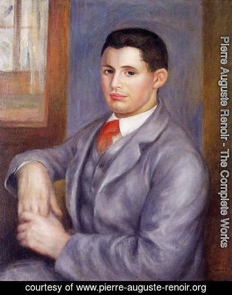 Pierre Auguste Renoir - Young Man In A Red Tie