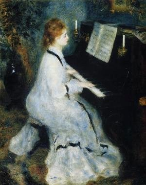 Pierre Auguste Renoir - Young Woman At The Piano