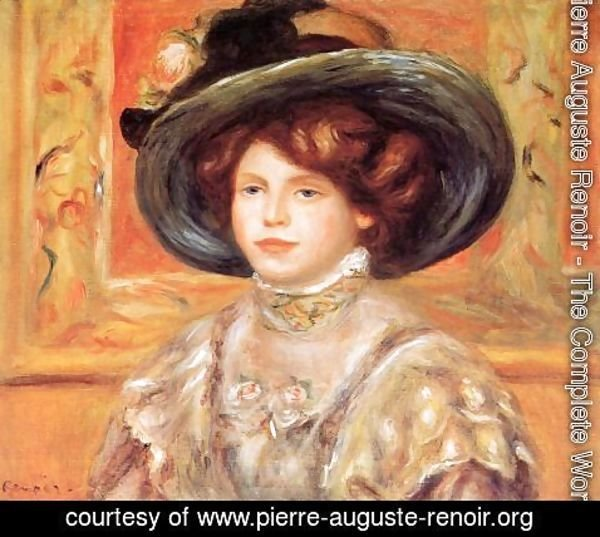 Pierre Auguste Renoir - Young Woman In A Blue Hat