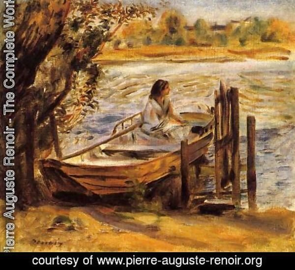 Pierre Auguste Renoir - Young Woman In A Boat Aka Lise Trehot