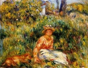 Pierre Auguste Renoir - Young Woman In A Garden