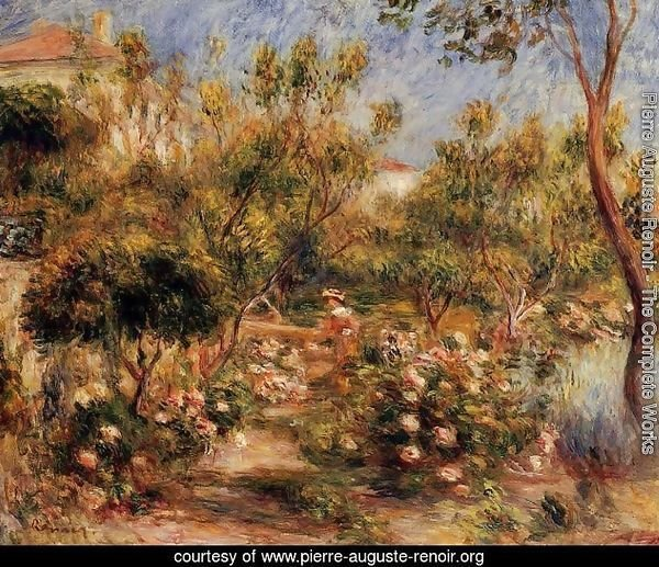 Young Woman In A Garden   Cagnes