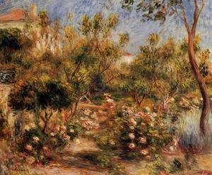 Pierre Auguste Renoir - Young Woman In A Garden   Cagnes