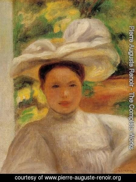 Pierre Auguste Renoir - Young Woman In A Hat