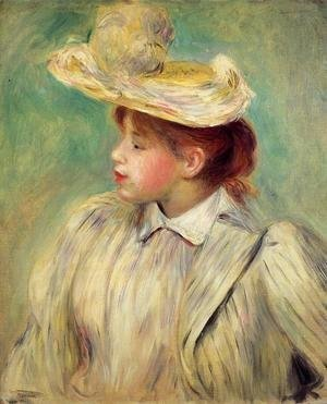 Pierre Auguste Renoir - Young Woman In A Straw Hat