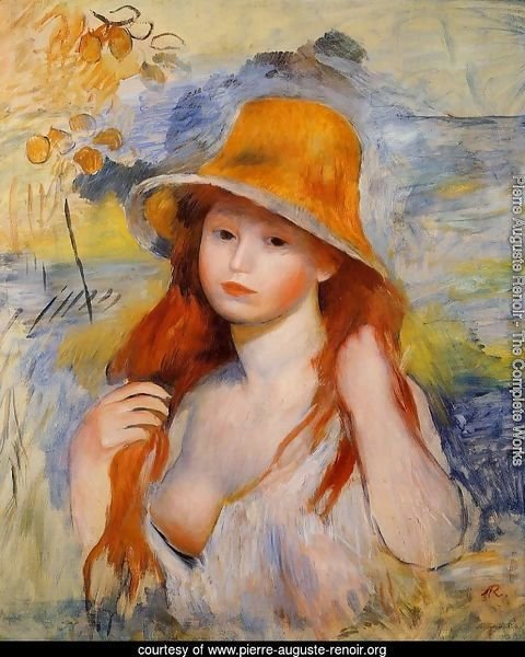Young Woman In A Straw Hat2