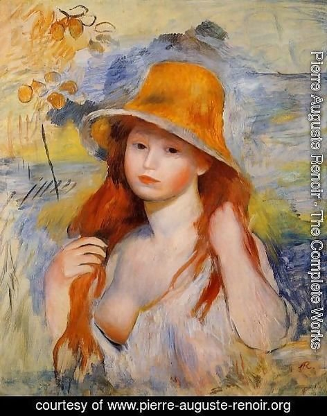 Pierre Auguste Renoir - Young Woman In A Straw Hat2