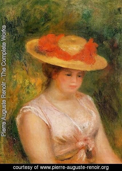 Pierre Auguste Renoir - Young Woman In A Straw Hat3