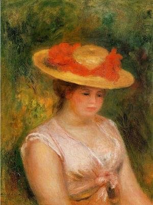Young Woman In A Straw Hat3