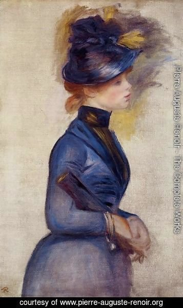 Pierre Auguste Renoir - Young Woman In Bright Blue At The Conservatory