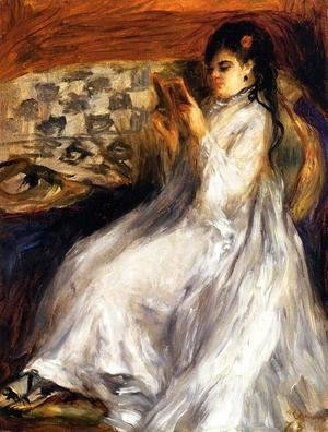 Pierre Auguste Renoir - Young Woman In White Reading