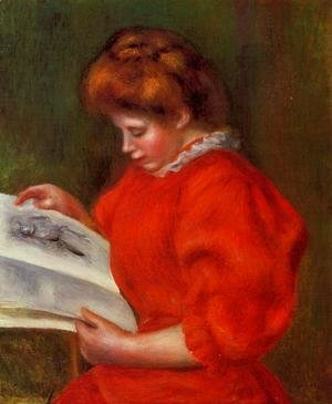 Pierre Auguste Renoir - Young Woman Looking At A Print