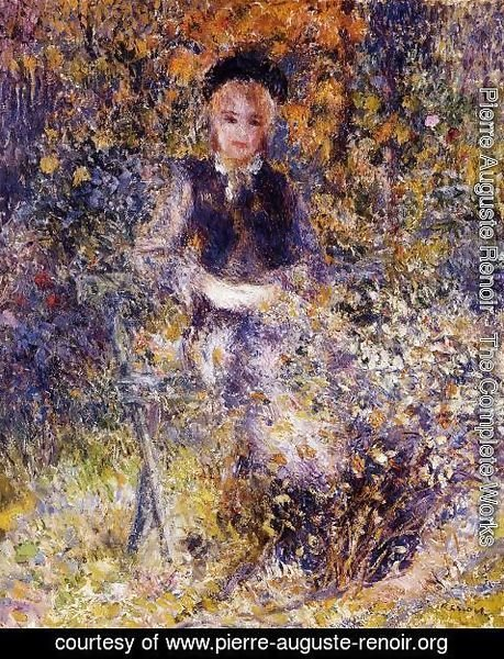 Pierre Auguste Renoir - Young Woman On A Bench