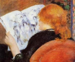 Pierre Auguste Renoir - Young Woman Reading An Illustrated Journal