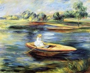 Pierre Auguste Renoir - Young Woman Seated In A Rowboat