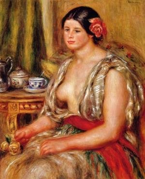 Pierre Auguste Renoir - Young Woman Seated In An Oriental Costume