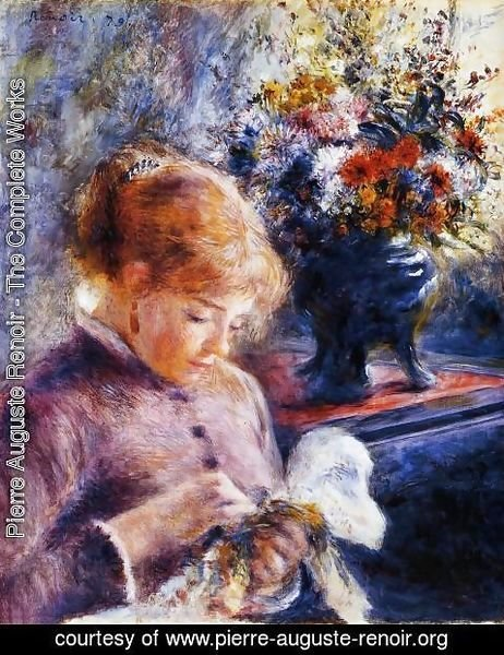 Pierre Auguste Renoir - Young Woman Sewing