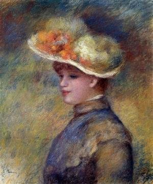 Pierre Auguste Renoir - Young Woman Wearing A Hat