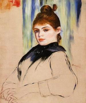 Pierre Auguste Renoir - Young Woman With A Bun In Her Hair