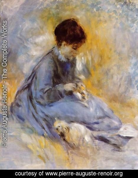 Pierre Auguste Renoir - Young Woman With A Dog