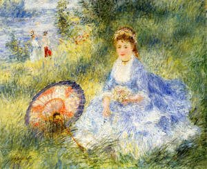 Pierre Auguste Renoir - Young Woman With A Japanese Umbrella