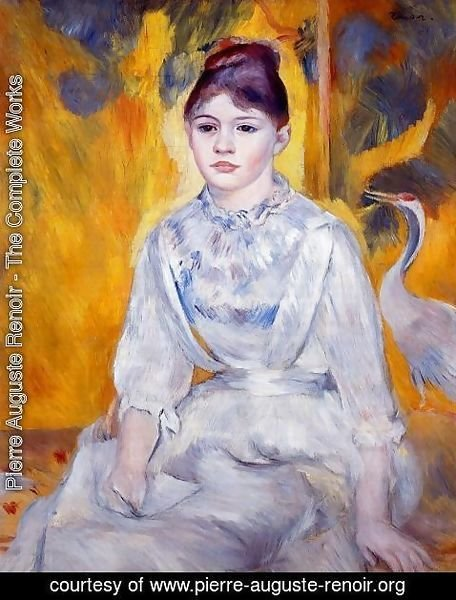 Pierre Auguste Renoir - Young Woman With Crane