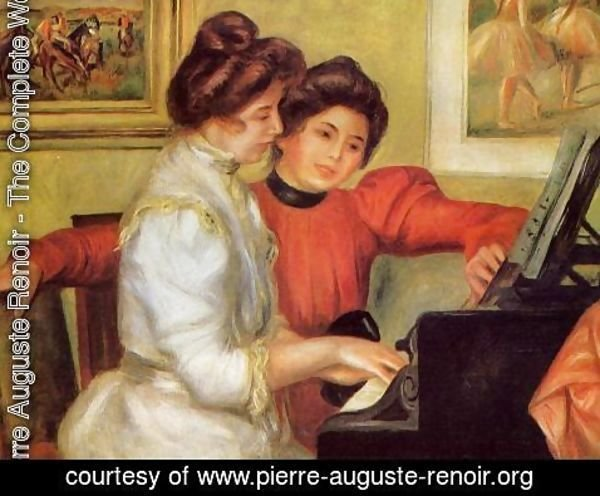 Pierre Auguste Renoir - Yvonne And Christine Lerolle At The Piano